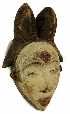Punu Maiden Spirit Mask Mukudji White Gabon African Art SALE WAS $450.00