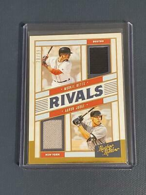 Aaron Judge/Mookie Betts Jersey 78/99 2019 Leather and Lumber Rivals Gold