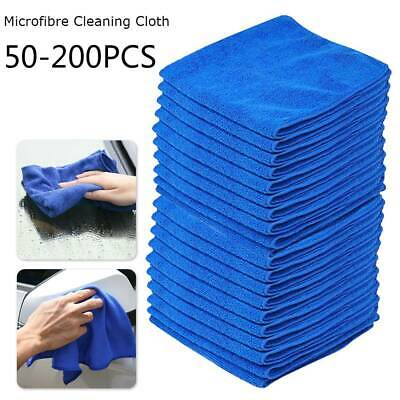 200x Microfibre Cloth Car Care Wash Kitchen Gym Cleaning Drying Towel Absorbent