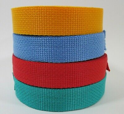 "Polypropylene Webbing Belts Dog Pet Collars Strapping Purse Tote Handle 1"" Wide"