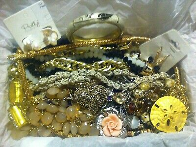 Vintage To Now Estate Find Jewelry Lot Junk Drawer Unsearched Untested Wear #97