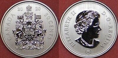 Specimen 2020 Canada 50 Cents From Mint's Set