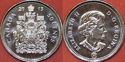 Brilliant Uncirculated 2013 Canada 50 Cents From Mint's Roll