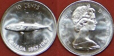 Proof Like 1967 Canada Silver 10 Cents Sealed in Cello