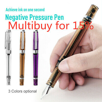0.38MM Wing Sung EF/F Nib Ink Pen 3013 Paili 013 Vaccum Fountain Pen(Transparent
