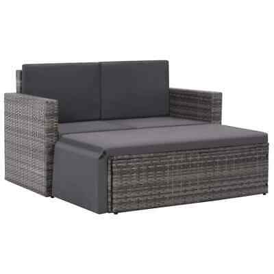 New Outdoor Sofa Set 7 Pieces Poly Rattan Wicker Outdoor Lounge Furniture