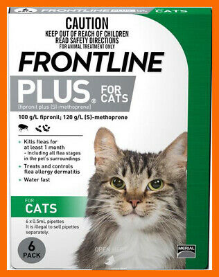 Frontline Plus For Cats 6 Months Pack EXP 02-2021
