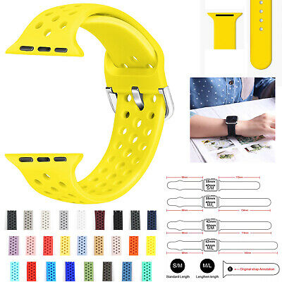 For Apple Watch Band Silicone 38mm 42mm Iwatch Replacement Wrist Strap Bracelet
