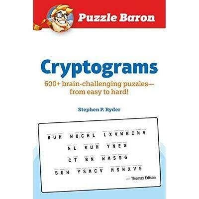 Puzzle Baron Cryptograms: 600 Brain-Challenging Puzzles - Paperback / softback N
