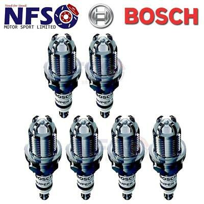 6 X Bosch Super4 Spark Plugs For BMW 5 Series 520i 24V 525i 525iX E34 1989-1997