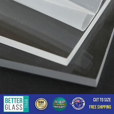 2 x Clear Acrylic Perspex PMMA Cast Sheets A4 297x210x6mm UV Stable