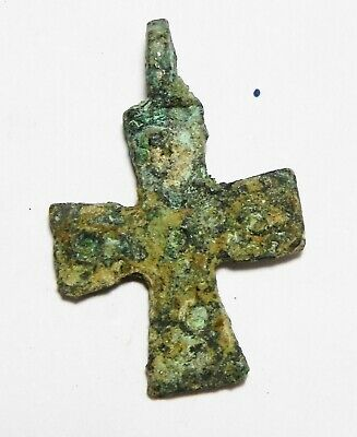 Zurqieh - As13514- Ancient Holy Land. Byzantine Bronze Cross. 800 - 1000 A.d