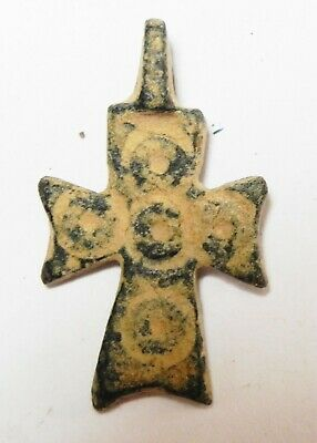 Zurqieh - As13515- Ancient Holy Land. Byzantine Bronze Cross. 800 - 1000 A.d