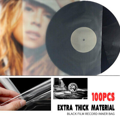 100X Clear Sleeves Outer Plastic Cover Antistatic For 12'' LP LD Vinyl Music ❤