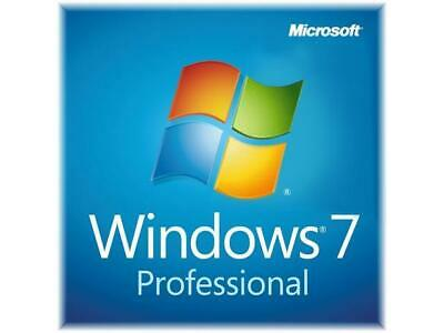 Microsoft Windows 7 Professional OEM 32/64 Bit Win Pro Original Key
