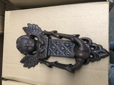Angel Cherub Cast Iron Door Knocker