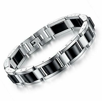 Feraco Stainless Steel Mens Magnetic Therapy Bracelets For Arthritis Pain Relief