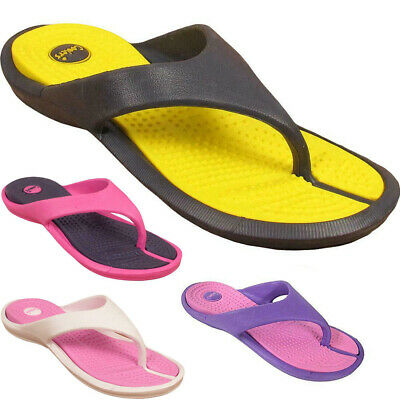 Womens Ladies New Surf Slip On Toe Post Beach Flip Flop Sandals Shoes Sizes UK