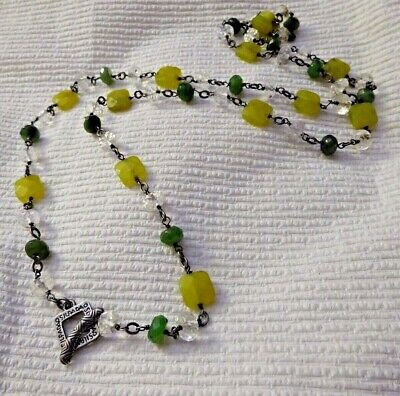 Silpada Sterling Silver Canadian & Olive Green Jade Crystal Necklace N1147 $139+