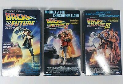 Back To The Future Trilogy (VHS) - Lot of 3 Movies - Tested/Works - I, II, III
