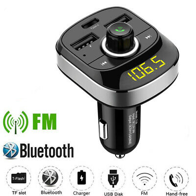 Bluetooth FM Transmitter Wireless Radio MP3 Player In-Car Charger Dual USB Port