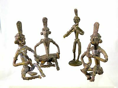 Antique India TRIBAL DOKHRA Lost Wax Casting TRIBAL BEND FIGURES Musicians