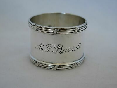 Heavy Antique Sterling Silver Large Napkin Ring