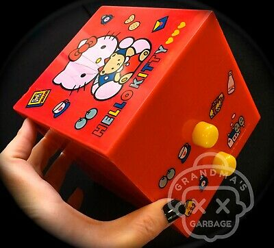 VTG ( Sanrio ) Hello Kitty TRINKET BOX Chest Jewelry Bear RED Kawaii 90s *flaws