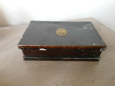 Antique Rare G. Hollinshed of Salford Folding Sandwich Box Circa 1880