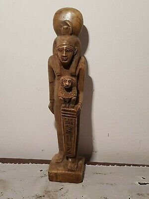 Rare Antique Ancient Egyptian Statue Goddess Isis ,Baboon Health cure1750-1640BC
