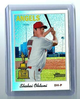 2019 Topps Heritage CHROME REFRACTOR #d 001/570 Shohei Ohtani ALL-STAR ROOKIE #1
