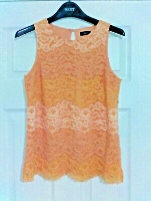 WOMEN'S GIRLS LADIES F&F TOP TUNIC DRESS COTTON-LACE-FLORAL SZ 8 Spring/Summer