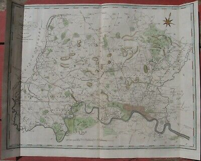 1805 John Cary Folio Map - MIDDLESEX, ENGLAND - London Area -Camden's Britannia
