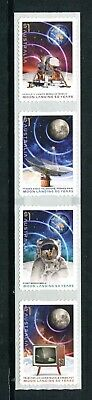 2019 The Moon Landing 50 Years On - Strip of 4 P&S Stamps