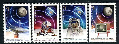 2019 The Moon Landing 50 Years On - Set of 4 MUH Stamps