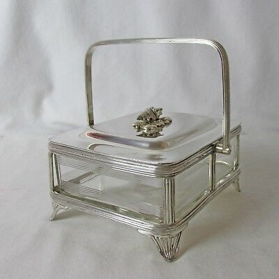 English Silver Plated Sardine/ Caviar/Cheese/ Butter Dish Conch Shell Finial