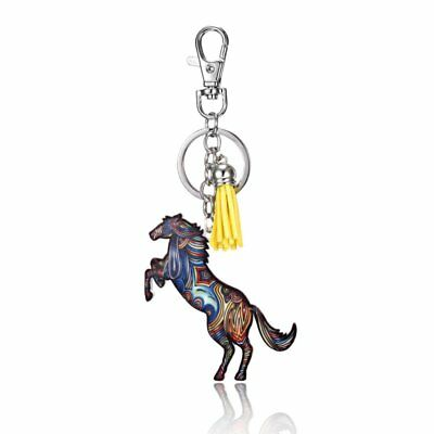 Lovely Printing Animals Horse Key Chain Keychain Pendant Keyring Accessories Hot