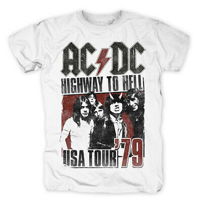AC/DC - USA Tour 1979 Highway To Hell weiß T-Shirt