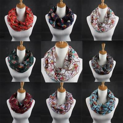Fashion Women's Owl Pattern Printed Casual Ladies Voile Scarf Warm Wrap Shawl