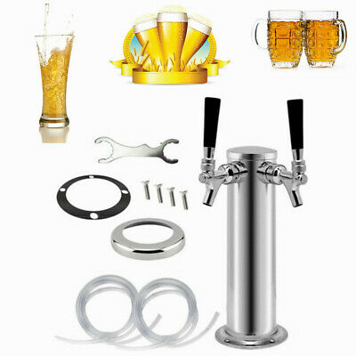 Home Bar Double Faucets Draft beer Tower Double Tap Beer Dispenser