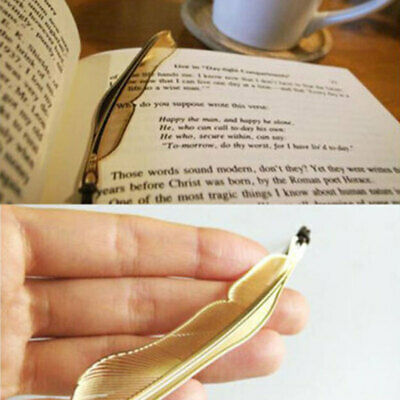 Antique Gold Plated Metal Hollow Animal Feather Bookmark Book Paper Reading 8x