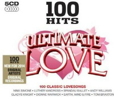100 Hits Ultimate Love 5-CD Box Set NEW SEALED Luther Vandross/Bill Withers/A1+