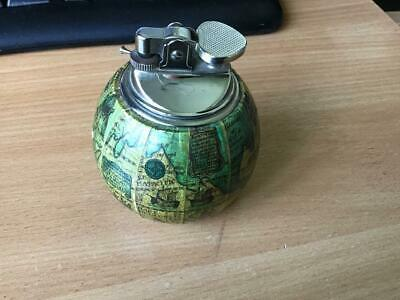 Vintage Round Globe Map Table Lighter