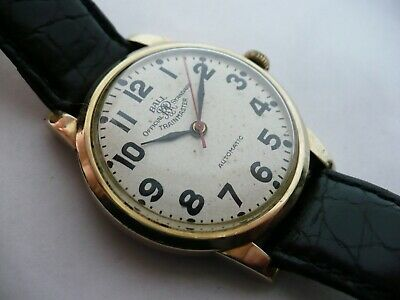 VTG BALL SWISS MADE 25j AUTOMATIC~ 10K YGF MENS RAILROAD WRISTWATCH-1960's