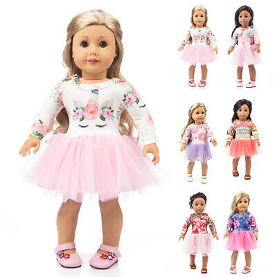 """Handmade Cute Bowknot Summer Dress Doll Clothes For 18"""" Summer Doll Vlothes Gift"""