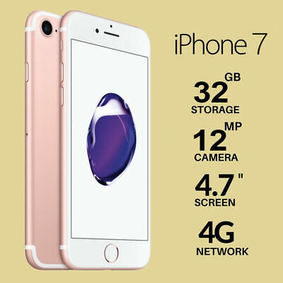 Nuovo Apple iPhone 7 32GB Rose Gold Rosa Oro Garanzia 12 Mesi Sigillato IT Top