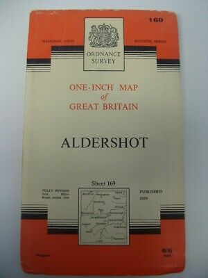 Ordnance Survey Map Seventh Series Sheet 169 Aldershot