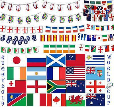 2019 World Cup Rugby Teams Country National Flags Bunting Sports Pub Decorations