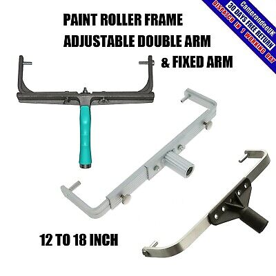 12 18 Double Arm Fixed Adjustable Paint Roller Frame Heavy