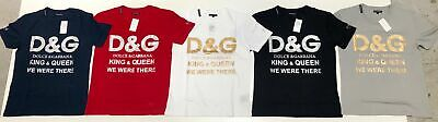 NEW Dolce & Gabbana Men's Shirt Short Sleeve Round Collar Red Size L